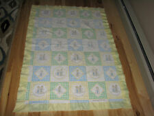 VINTAGE BABY BLANKET LOVE IS THE LITTLE THINGS WE DO FOR EACH OTHER 1976 NYLON