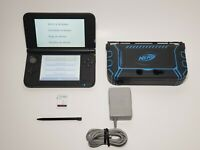 New Nintendo 3ds XL Console, Black Handheld System with AC Adapter & Pen + Case