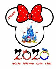 **DISNEY VACATION MINNIE MOUSE 2020 PERSONALIZED CASTLE *SHIRT IRON ON TRANSFERS