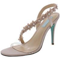 Betsey Johnson Womens Baha Beige Heel Sandals  Shoes 10 Medium (B,M) BHFO 2108
