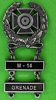 Army Expert Marksmanship Badge with  M-14 and GRENADE Qualification Bars
