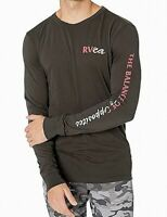 RVCA Mens T-Shirt Black Size 2XL Graphic Tee Balance of Opposites $35 #057