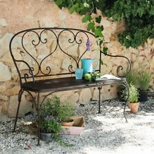 FRENCH DESIGN classical antique  garden bench outdoor wrought iron  QUALITY