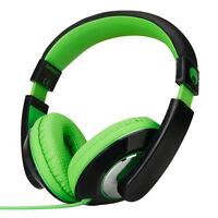 Over-Ear Kids Childrens Adult Headphones Adjustable iPod MP3 MP4 DVD Black Green