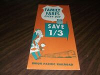 JUNE 1969 UNION PACIFIC FAMILY FARES EVERY DAY
