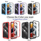 For iPhone 13/13 Mini/13 Pro Max Clear Case Full Body Cover + Screen Protector