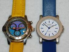 LOT 2 Watch PIERRE HENRY time force 163310 quartz MONTRE UHR bracelet cuir