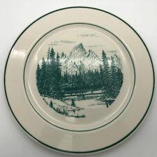 "Bridge to Hidden Falls Plate Jenny Lake Lodge Keith Fay Homer Laughlin 11"""