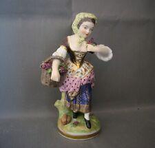 2884*  figurine polychrome porcelaine samson signé ancien