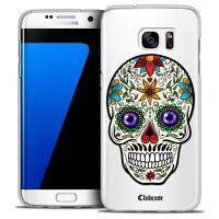 Coque Crystal Pour Galaxy S7 Edge Extra Fine Rigide Skull Maria's Flower