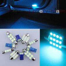 8Pcs Deluxe Ice Blue Light Car Interior LED Package Kit For Acura TSX 2004-2008