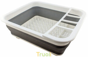 Collapsible Pop Up Dish Drainer Washing Pots Cutlery Folding Caravan Space Saver