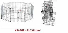 8 Panel Wire Metal Pet Dog Animal Cat Exercise Playpen Fence Enclosure Cage UK