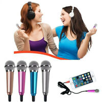 Mini Karaoke Condenser Wired 3.5mm Microphone Mic Mobile Phone For Android US