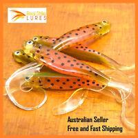 11cm Soft plastics Bream Trout Flathead Bass Snapper Barra Cod Lures Tackle
