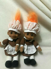 Russ Chef Troll Dolls With Hat And Aprons