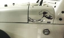 Jeep Wrangler ocean wave hood Vinyl Stickers Full Set Decal JK,pick Color