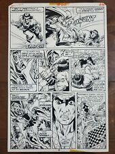 ORIGINAL ART MASTER OF KUNG FU MIKE ZECK DOOM SHANG CHI 1978 BATTLE COMIC MARVEL