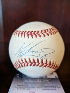 "Ken Griffey Jr Signed Autographed OML Baseball JSA Cert Reds HOF Auto ""The Kid"""