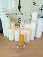 "BEESWAX CHURCH CANDLES 4"" x 1""  NATURAL. HANDMADE IN THE UK. FREE DELIVERY"