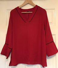 Papaya Red Blouse Top, Size 14