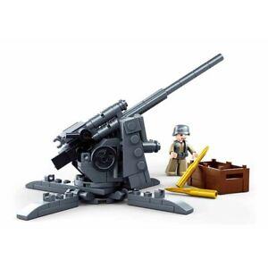 Lego ww2 Canon Flak Artillerie Soldat Militaire Armée Figurine Minifig WWII war