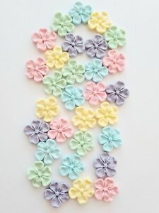 Edible Sugar Flowers in Pastel Colours with Lustre, Blossom Cake Toppers