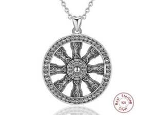 M060 Pendant Sun Wheel Inka Maya Sterling Silver 925