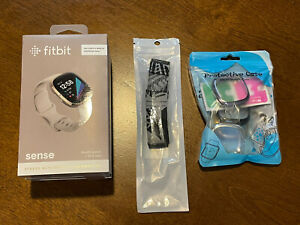 Fitbit Sense Health & Stress Management Smartwatch - Soft Gold with White Band