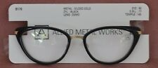 Allied Metal Works Gilded Gold Black Frame demo lense B170 Woman Glasses