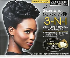 LUSTER'S SHORTLOOKS COLOR RELAXER 3 IN 1 ( diamond BLACk)
