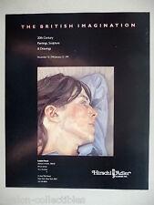 Lucian Freud Art Gallery Exhibit PRINT AD - 1990 ~~ Woman In Profile