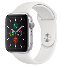 Apple Watch Series 5 GPS 40mm Smart Watch Aluminium case Sport Band white ECG