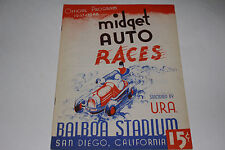 Midget Auto Races Program, San Diego Balboa Stadium, June 25 1947, Original #2