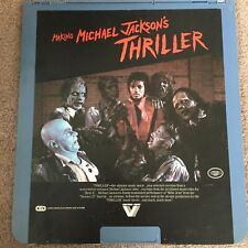 MAKING MICHAEL JACKSON'S THRILLER RCA Selectavision CED STEREO Video Disc