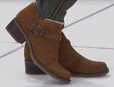 Sporto® Amber Suede Shootie with Braided Detail, New Tan 8.5 M