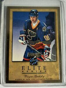 1996-97 Donruss Elite - ELITE SERIES GOLD - Wayne Gretzky Blues