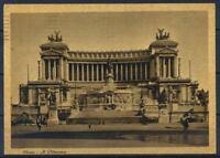 Roma 1914 Cartolina 80% usata con francobollo, animata, Il Vittoriano