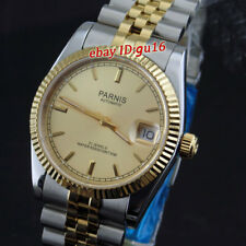parnis 36mm Gold color dial miyota luminous marks automatic womens watch 2045