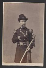 Civil War CDV Union Colonel and BBG William T Frohock Mount Carroll Illinois