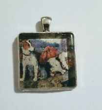 Vintage Jack Russell Parsons Terrier Dog crystal pendant charm by mydogsocks