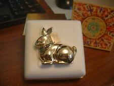 "Estee Lauder Solid Perfume Compact ""Golden Rabbit"" Original Perfume"
