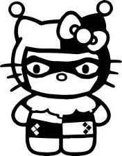 Hello kitty etiqueta de vinilo calcomanía Harley Quinn-Coche, Furgoneta, Ordenador Portátil