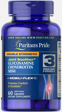 Double Strength Glucosamine Chondroitin MSM Joint Soother 60 Caplets Puritan