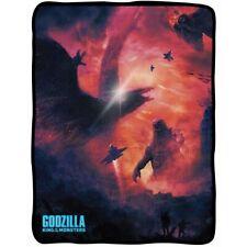 New LICENSED Godzilla Fleece Throw Gift Blanket King of the Monsters Movie Rodan