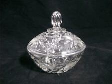Anchor Hocking Clear Prescut Candy Box w/Cover, 1960's