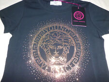 Versace Young  T- Shirt Black  Medusa Metal  size 6 Anni
