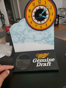 Vintage Miller Genuine Draft Table top Bottle Clock Early 1990s Display MGD Rare