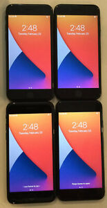 FOUR TESTED GSM UNLOCKED BLACK AT&T APPLE iPhone 7, 32GB A1778 PHONES R215P