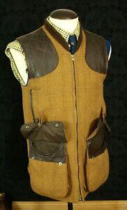 Mens Beaver of Bolton Derby Tweed shooting Hunting Gillet Waistcoat 39 40